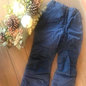 Navy Lands' End Snow Pants